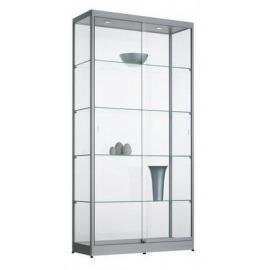Vitrinekast aluminium 100cm breed