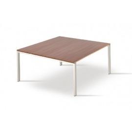 Vierkante vergadertafel Maroon