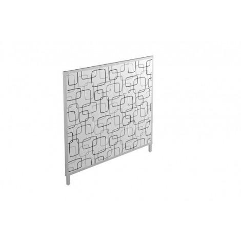 Scheidingswand 144cm hoog Stof met patroon