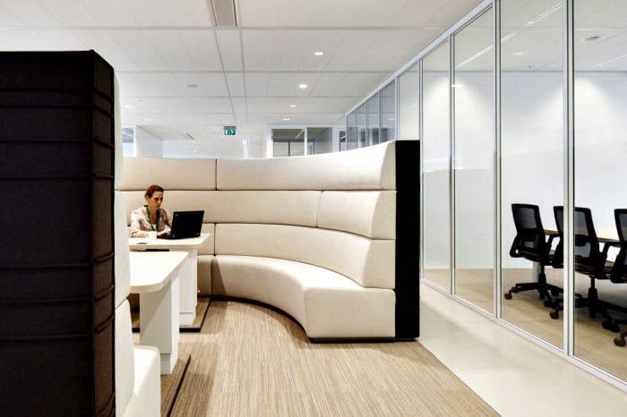kantoor danone lounge bank