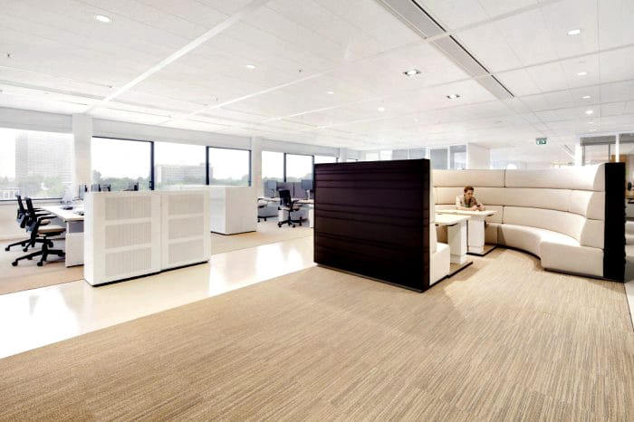 danone kantoor utrecht lounge werkplek