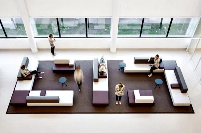 danone lounge werkplek