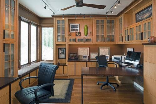 houten kantoor licht