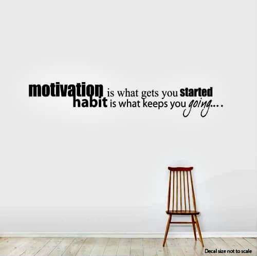 Motivation_Is_What_Gets_You..._Wall_Art_Decals