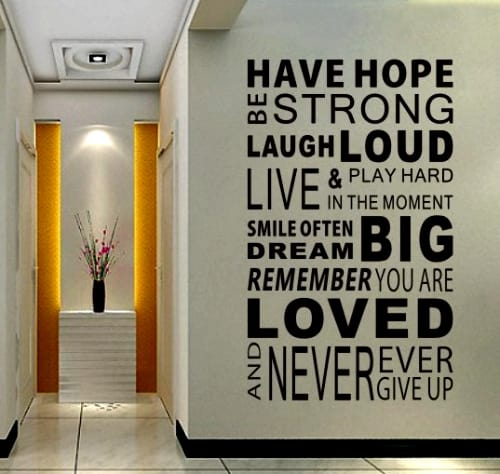 New-2014-Have-Hope-Sticker-Family-Rules-Home-Decor-font-b-Quotes-b-font-font-b