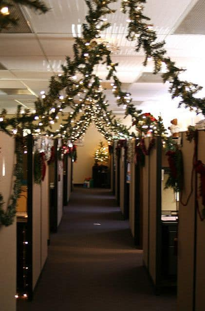 gang kantoor kerst