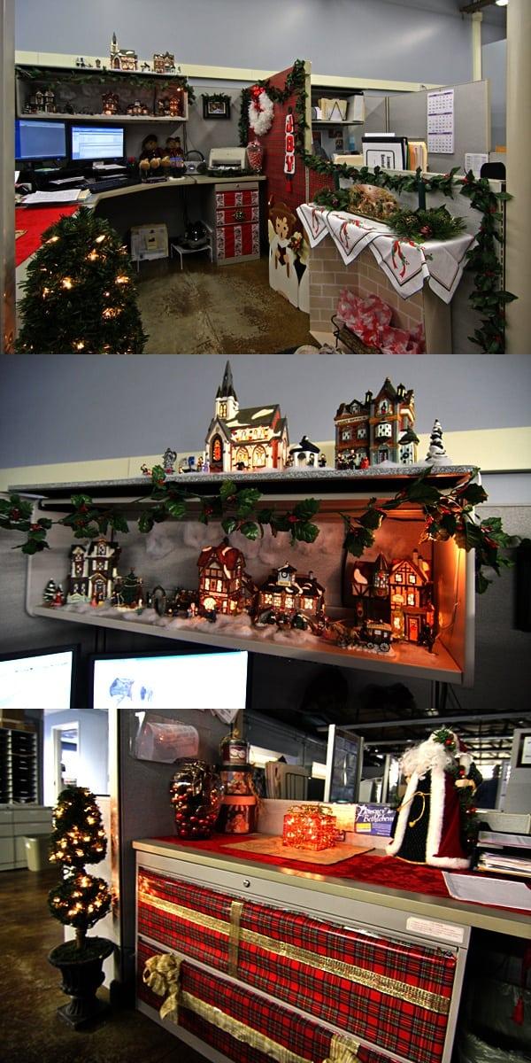 gave versiering kerst kantoor