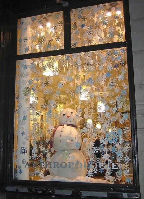 kantoor raam kerstmis