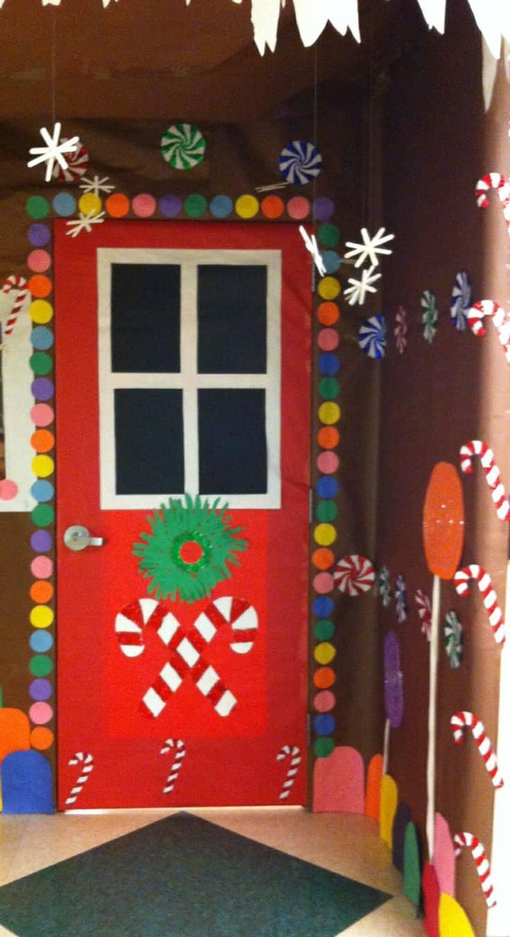 kerst op kantoor deur
