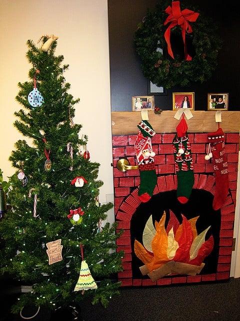 kerstboom op kantoor
