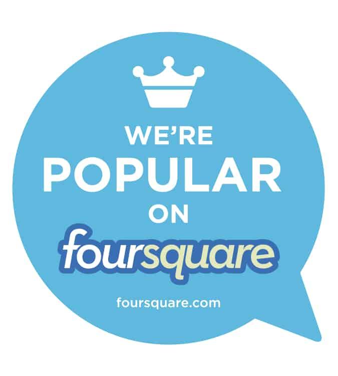 Foursquare-Windo-Cling
