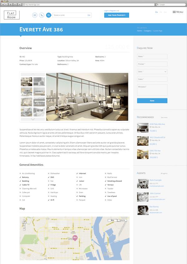 vastgoed website screenshot