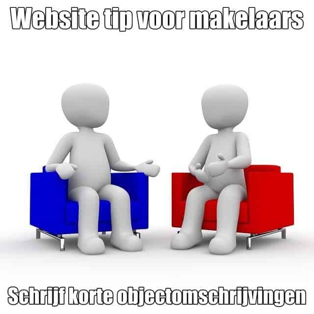 website tip voor makelaars schrijf korte objectomschrijvingen