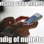 Whatsapp voor makelaars. Handig of nutteloos?