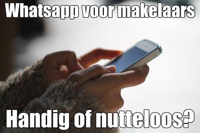 whatsapp makelaars